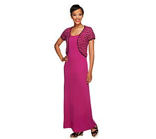 Liz Claiborne New York Regular Knit Maxi Dress w/ Shrug
