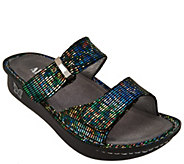 Alegria Leather Double Strap Slide Sandals - Karmen - A255117