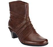 Cobb Hill by New Balance Leather Ruched Ankle Boots - Shannon - A257517