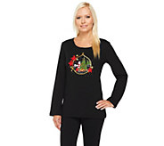 Quacker Factory Holiday Ornament Long Sleeve T-shirt - A259317
