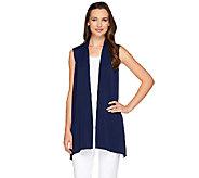 Susan Graver Premier Knit Cascade Front Vest - A263817