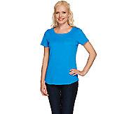Liz Claiborne New York Essentials Short Sleeve Tee w/ Pocket - A264117