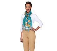 ED On Air Floral Vine Scarf with Fringe by Ellen DeGeneres - A264717