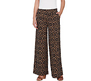 Isaac Mizrahi Live! Regular Medallion Print Wide Leg Pants - A266717