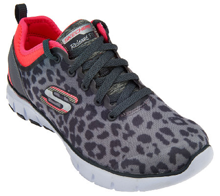 skechers animal sneakers mesh power player lace qvc