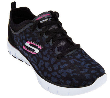 skechers animal sneakers mesh lace player power qvc
