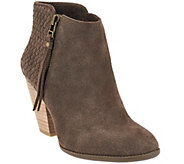 Sole Society Suede Woven Detail Ankle Boots - Zada - A269817