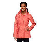As Is Dennis Basso Water Resistant Anorak Jacket w/ Hood - A270017
