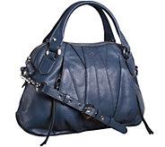 As Is orYANY Trina Italian Leather Satchel - A270117