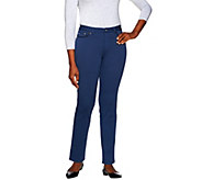 Women with Control Regular Ponte di Roma Knit Pants - A270217