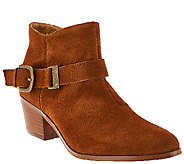 Kensie Suede Ankle Boots with Side Buckle Detail - Colten - A270717