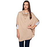 H by Halston Cowl Neck Knit Sweater Poncho - A271117