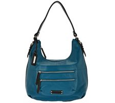 Tignanello Large Grain Pebble Leather Hobo with Front Pocket