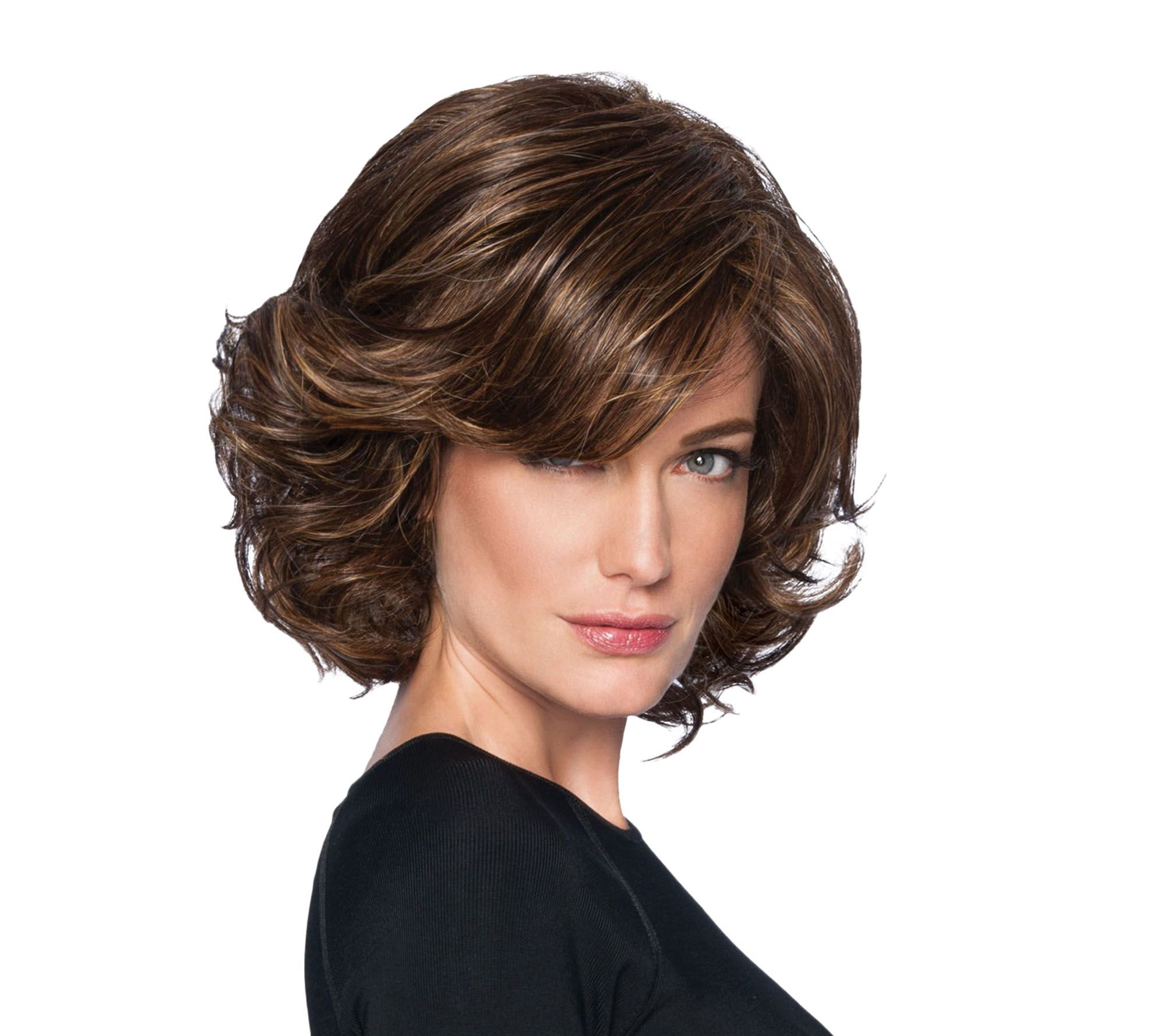 Wigs hair extensions beauty qvc hairdo modern flair waved bob wig a280517 pmusecretfo Image collections