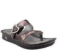As Is Alegria Leather Thong Sandals with Strap Detail - Valentina - A280617