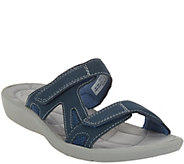 As Is Clarks Cloud Steppers 2 Strap Slide Sandals - Sillian Wonder - A284717