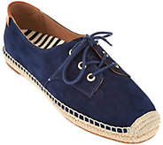 Vionic Orthotic Suede Lace-up Espadrilles - Rayne - A286617