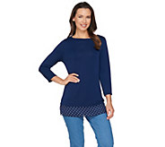 Susan Graver Premier Knit Top with Back Cutout - A286717