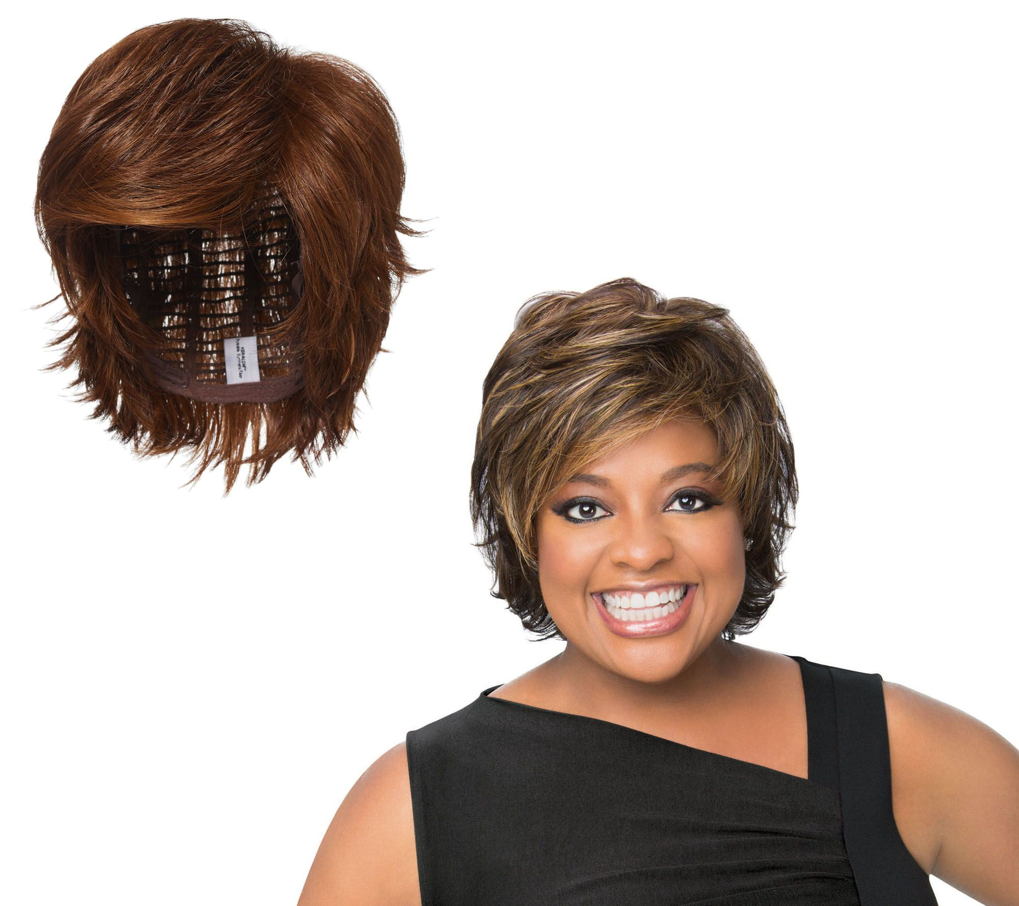 Wigs extensions hair care beauty qvc luxhair by sherri shepherd tapered flip cut wig a292717 pmusecretfo Gallery