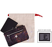 LODIS Leather RFID Zip Keychain Pouch and Card Case Set - A300617