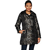 As Is Dennis Basso Printed Water Resistant Quilted Coat - A309917
