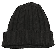 MUK LUKS Mens Knit Cable Cuff Hat - A334717