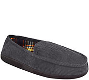 MUK LUKS Mens Corduroy Moccasin with Flannel L ining - A334817