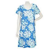 Carole Hochman Windy Floral 100Cotton Jersey Sleepshirt - A220518