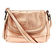 B. Makowsky Laurel Glove Leather Flap Top Crossbody Bag - A230918