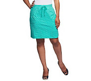 Susan Graver Weekend Printed French Terry Skort with Drawstrings - A232818