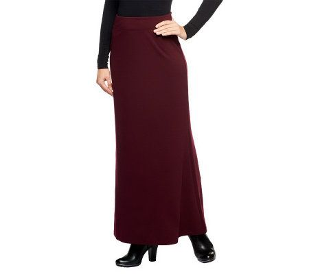 linea by louis dell olio linea ponte knit maxi skirt w