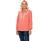 Quacker Factory DreamJeannes Floral Embroidered Jacket - A240818