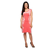 Isaac Mizrahi Live! Engineered Floral Knit Dress - A252118