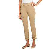 Women with Control Petite Slim Leg Pants with Ankle Tab - A252818
