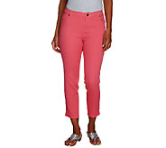Lisa Rinna Collection Capri Jeans with Side Vents - A253218