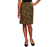 Isaac Mizrahi Live! 24/7 Stretch Pull-On Skirt - A255918