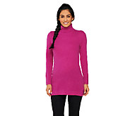 Isaac Mizrahi Live! 2-Ply Cashmere Turtleneck Tunic - A257918