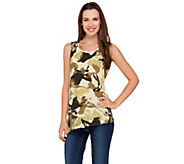 Lisa Rinna Collection Printed Top with Asymmetric Hem - A264718