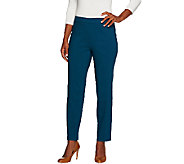 Susan Graver Ultra Stretch Comfort Waist Pull-On Ankle Pants - A266818