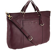 Isaac Mizrahi Live! Nolita Pebble Leather Tote w/ Strap - A267718