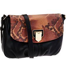 Aimee Kestenberg Pebble Leather Messenger Bag - ...