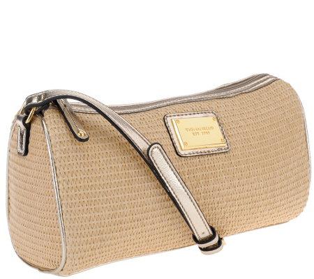 quot as is quot tignanello straw crossbody bag a271318 qvc