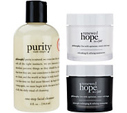 philosophy cleanse & renew 3 piece skincare collection - A273118