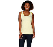 Susan Graver Weekend Striped Cotton Modal Scoop Neck Tank - A274518
