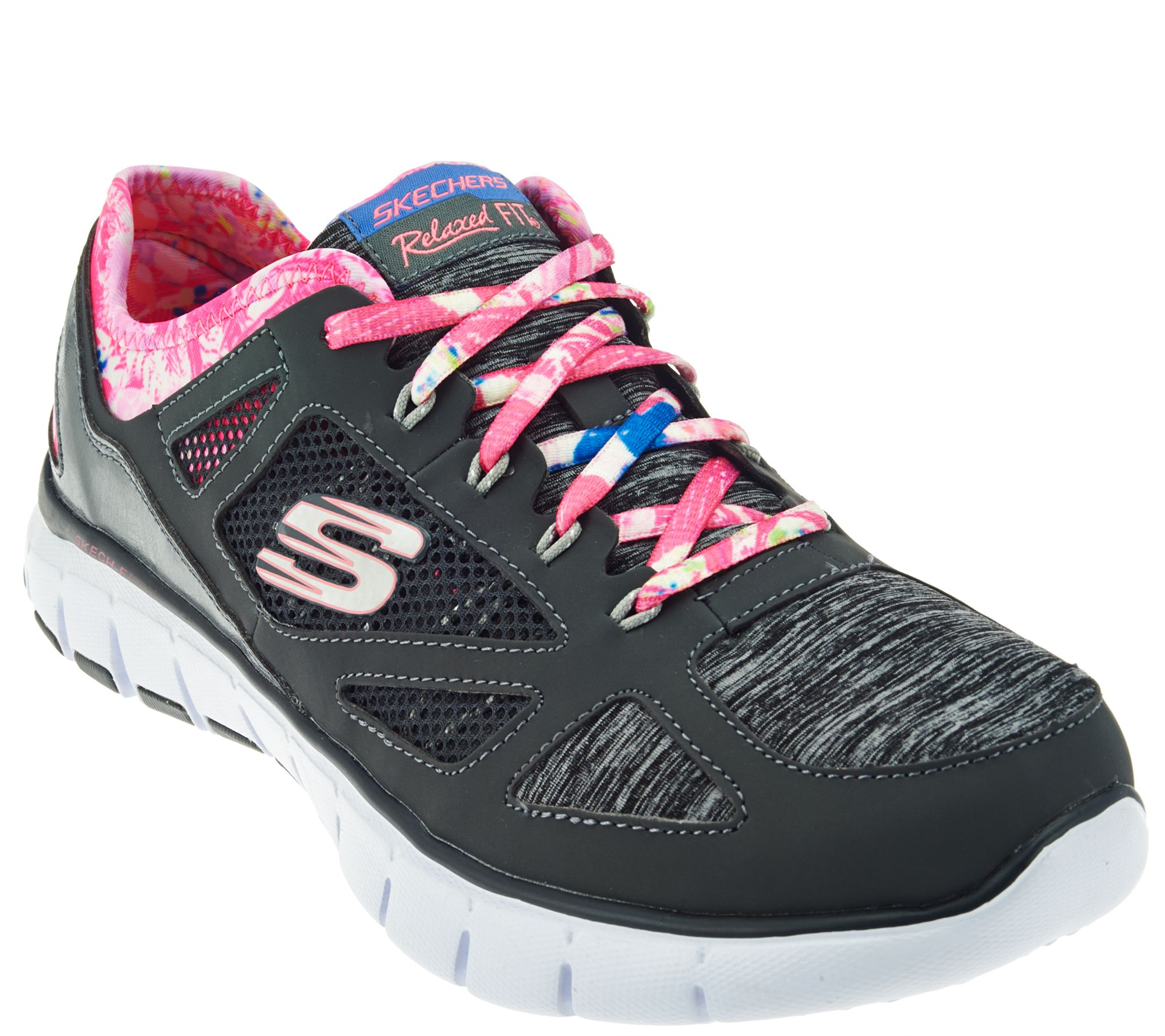 Skechers Relaxed Fit Lace-up Sneakers - Tropical Vibes