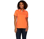 Susan Graver Butterknit Short Sleeve Polo Shirt - A276418