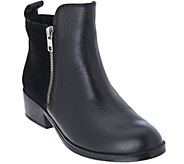 As Is Cougar Leather & Suede Waterproof Ankle Boots - Connect - A277718