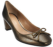 As Is Judith Ripka Leather Pumps with Bow Detail - Helen - A281218