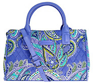As Is Vera Bradley Signature Print Compartment Satchel - A282418