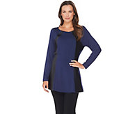 Belle by Kim Gravel Curvallusion Tunic with Faux Leather Trim - A282718